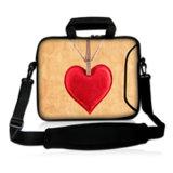 Neoprene Laptop Sleeve 15.6 Computador Messenger Bag 10 11.6 13.3 14 15.4 17.3 polegadas Shoulder Laptop Bag Handle PC Protective Case