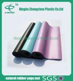 Esteira de borracha de couro confortável macia da ioga da alta qualidade da esteira da ioga do plutônio