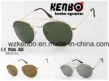 Moldura de metal redonda com óculos de sol para homem de sobrancelha de moda Km16144