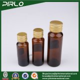 botella de cristal líquida oral ambarina de la medicina del ámbar/de Brown de 20ml 30ml 50ml con la botella de cristal líquida farmacéutica de la tapa de aluminio del tornillo