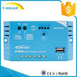 Epever 10A 태양 비용을 부과를 비용을 부과하는 USB 1.2A 후원을%s 가진 태양 책임 규칙 12V