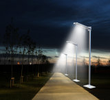 Diseño Linterna recargable integrada de aluminio Camino de luz solar