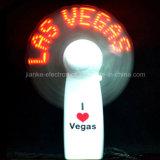 Promocional encender para arriba el ventilador el contellear LED del mensaje con la insignia (3509)