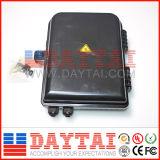 Casella di distribuzione ottica esterna della fibra di memoria 4-48 di colore nero