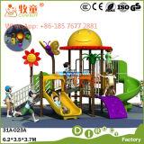 Outdoor Playground Slide Swing para pré-escolar (WOP-046B)
