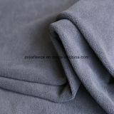 灰色カラーのマイクロ羊毛ファブリック