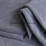 Micro Fleece tela en color gris