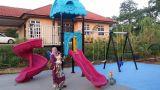 庭に使用する振動セットが付いている子供の屋外の運動場