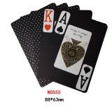 Nuevo plástico negro del 100% que juega a las tarjetas que juegan de Cards/PVC (punto 555)