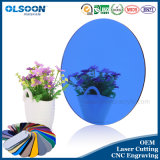 Olsoon 0.8-6mm Epaisseur Couleurs personnalisées Miroir acrylique léger Miroir ovale