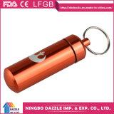 Rectángulo al por mayor de la píldora del metal de Keychain del mini rectángulo de la píldora