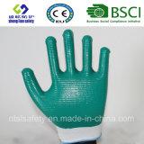 раковина полиэфира 13G с покрынными нитрилом перчатками работы (SL-N113)