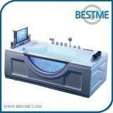 Bañera de acrílico pura simple del masaje del nuevo diseño (BT-A1012)