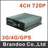 tarjeta DVR/Ahd móvil 720p de 4CH 3G GPS SD con 3G 4G WiFi opcional
