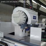 Centro-Pratic-Pia que trabaja a máquina que muele de la sección de aluminio del CNC