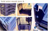 Lager-faltbarer Speicher-Metalldraht-Ineinander greifen-Kasten/Behälter für Verkauf
