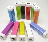 Batería portable de la potencia de Supermini del lápiz labial del teléfono del cargador de los regalos coloridos de la manera