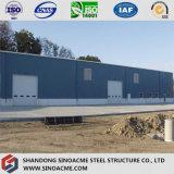Edificio industrial de acero prefabricado del marco de la construcción/de puerta de Sinoacme
