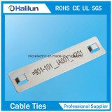 Плита отметки кабеля металла высокого качества 316ss для знаков