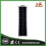 Luz de calle solar integrada solar residencial de la iluminación 40W Bridgelux LED sin poste