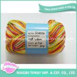 China Fornecedor de Alta Resistência Worsted 100% algodão Mão Knitting Yarn