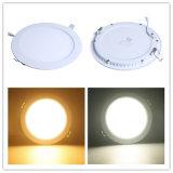 les lumens 18W élevés ont encastré le panneau économiseur d'énergie de l'éclairage DEL du plafond SMD2835 de lumière ronde mince de lampe vers le bas