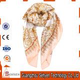 Sciarpa lunga stampata alla moda di seta pura della signora 100%