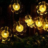 7m 50LEDs Sunflower Blossom luces decorativas a prueba de agua del jardín al aire libre de la boda de la fiesta de Navidad Solar LED String Light