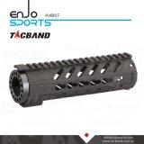 Fibra Keymod compuesto del carbón (CFC) de Tacband flotador libre del carril de Handguard de 7 pulgadas con negro superior del carril de Picatinny