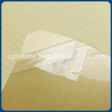 Película auta-adhesivo lateral doble transparente posterior del amarillo