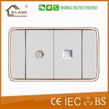De elektrische Schakelaar van de Muur met Mf Contactdoos