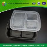 Wegwerfnahrungsmittelbehälter des plastik3 Fach-pp.