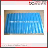 Diseño acanalado lentejuela de acero de la azotea del cinc de la luz cero de Baoshi Customed