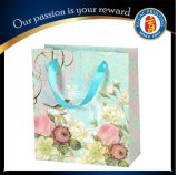 Sac à provisions rose personnalisé de papier de sac de cadeau de papier d'amour
