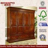 Шкаф спальни сходной цены деревянный (GSP9-003)