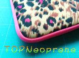 Мешок компьтер-книжки втулки неопрена картины зерна леопарда с ручкой