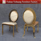 Cadeira especial do casamento do aço inoxidável dos pés do ouro do projeto (YCX-SS06)