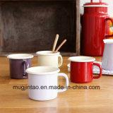Taza modificada para requisitos particulares fábrica del campo de la taza de la leche de la taza de café del esmalte para las ventas para el regalo para la escuela