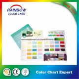 Catalogue de carte de papier de couleur de peinture de mur d'impression pour la publicité