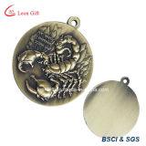 Médaille personnalisée de couleur d'antiquité en métal de logo pour le cadeau de souvenir