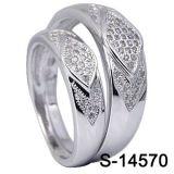 형식 보석 925 은 한 쌍 반지