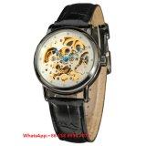 Relógios dos homens automáticos populares excelentes com a cinta de couro genuína Fs678