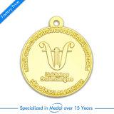 Medaglia antica di esecuzione di maratona del ricordo dell'argento 3D con il nastro