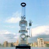 Hott, das 18 Zoll 7 Gummireifen Perc der mm-Stärken-drei rauchendes Wasser-Glasrohr mit Fabrik-Preis verkauft