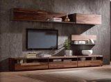 Conjunto de gabinete de TV de madeira moderna de estilo luxuoso