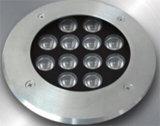 지상 LED 빛에서 증명서를 주는 지상 LED 빛의 밑에