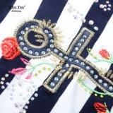 Ailinna 102575さんの女性の卸し売り縞の綿のマキシの服