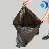 Impression faite sur commande en plastique de sacs plats de couleur d'espace libre de déchets de HDPE
