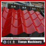 Glasig-glänzende galvanisierte Dach-Fliese-Panel-Blatt-Rolle, die Maschine 1100 bildet