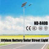 Indicatore luminoso di via solare di stile popolare da vendere con la batteria di litio di 12V 30ah~60ah